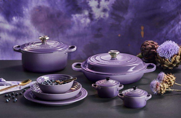 Le Creuset春夏推出新色「星河紫」。圖/Le Creuset提供