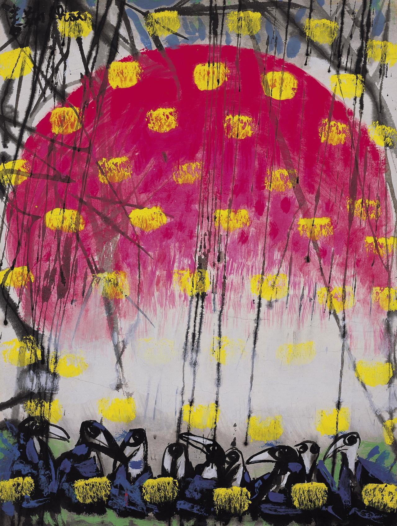 趙春翔的作品《福降大地》。圖╱典藏藝術提供