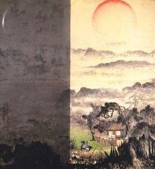 趙春翔的作品《日月陰陽》,結合易經禪學。圖╱典藏藝術提供