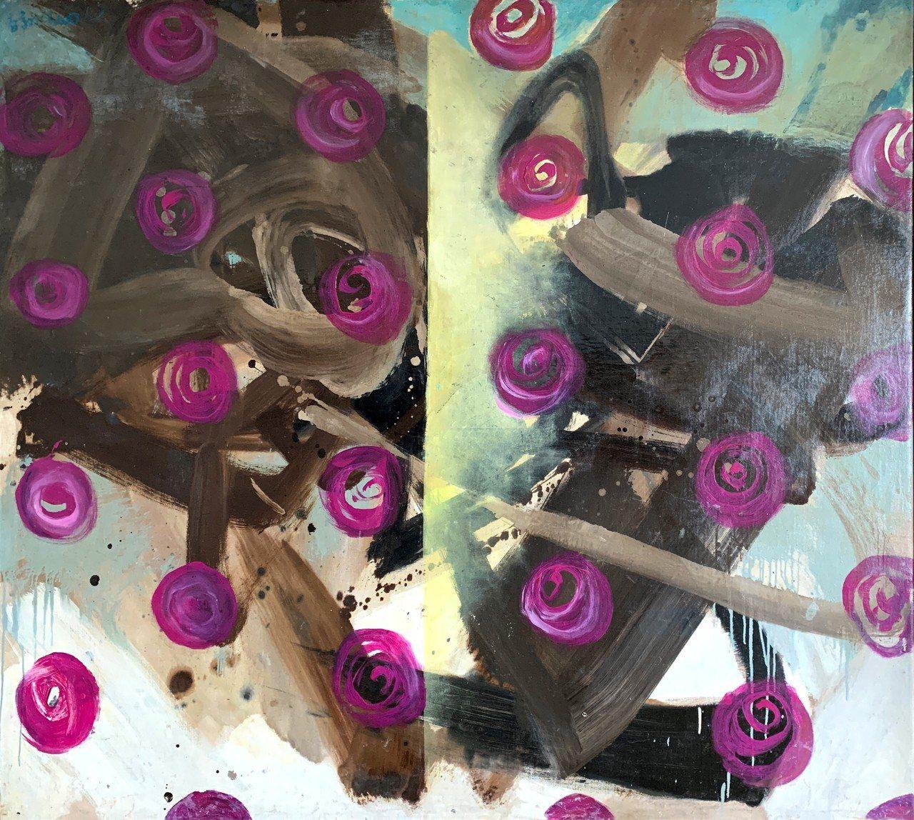 趙春翔的作品《玫瑰風暴》。圖╱典藏藝術提供