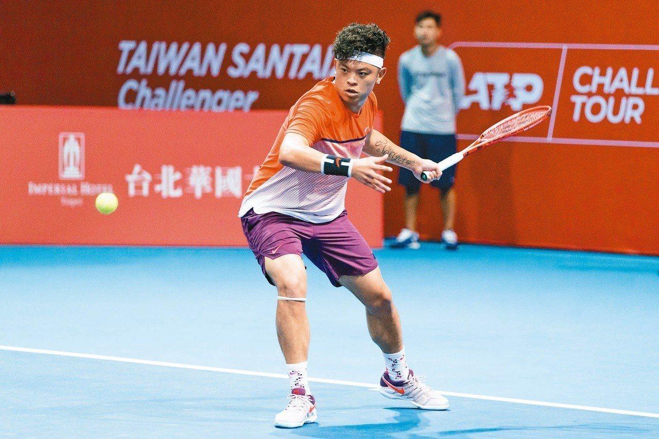 謝政鵬華國三太子男網賽單打會內賽首輪止步。 圖/海碩整合行銷提供