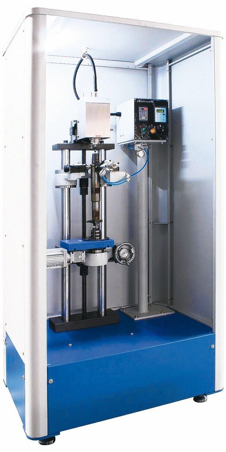 久昇公司新推出採用變頻內藏式高速主軸設計的中心孔研磨機。 久昇公司/提供