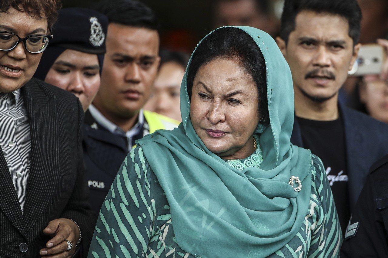 馬來西亞前首相納吉夫人羅斯瑪(Rosmah Mansor)。 歐新社