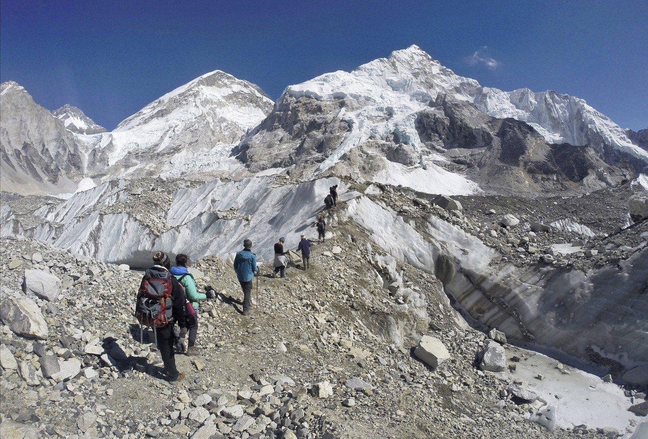 世界最高峰聖母峰。 美聯社