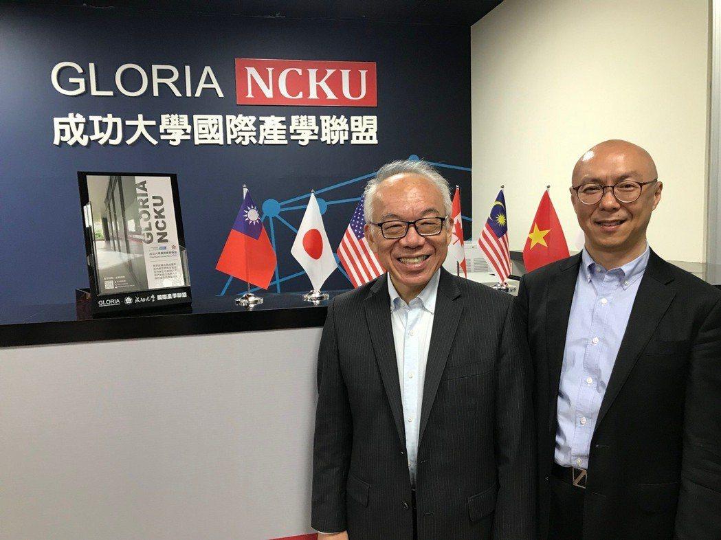 成功大學GLORIA執行長陳勁初(左)與營運長洪偉仁攜手打造學界與產業鍵結平台。...