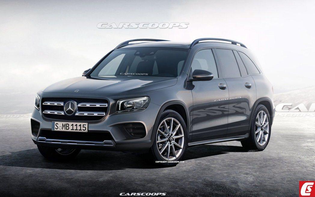 全新Mercedes-Benz GLB預想圖。 摘自Carscoops