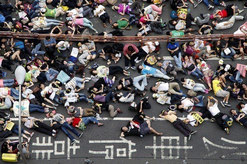圖為2014年反核遊行。 圖/歐新社
