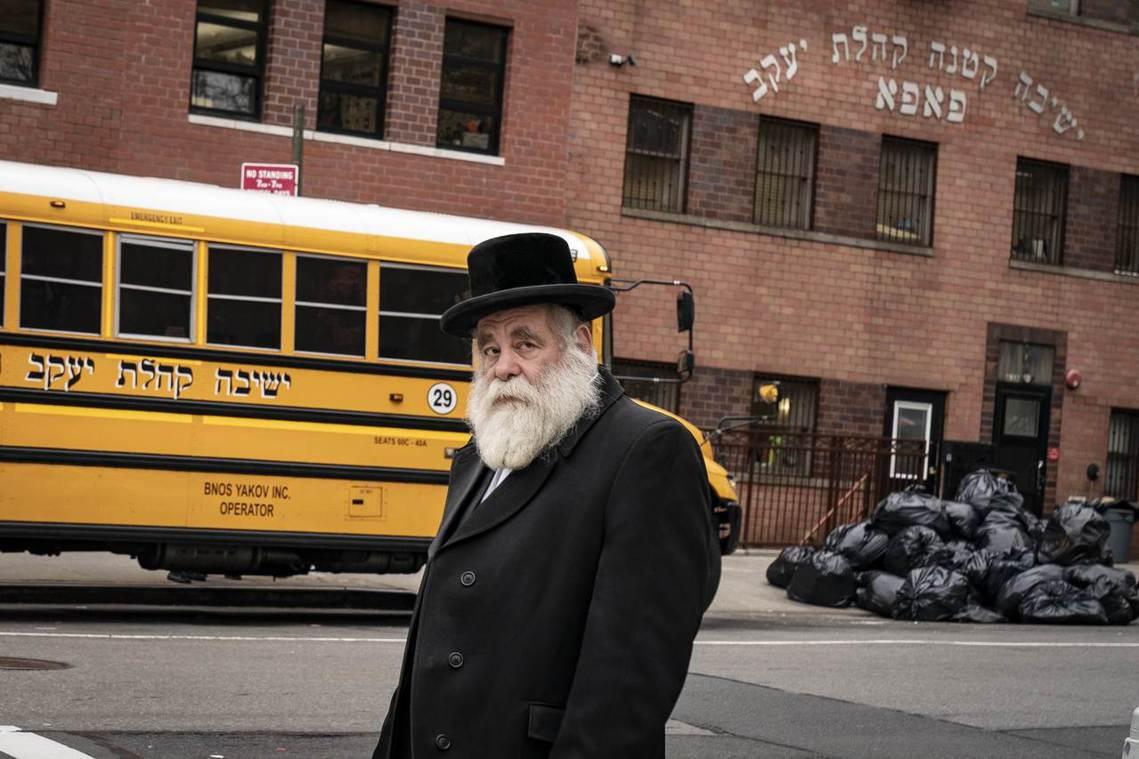 圖為布魯克林的猶太人社區威廉斯堡(Williamsburg)。當地為保守派「哈雷...