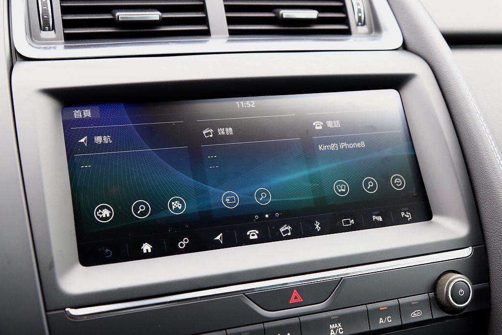 Jaguar E-Pace搭載Jaguar最新世代Touch Pro資訊娛樂系統...