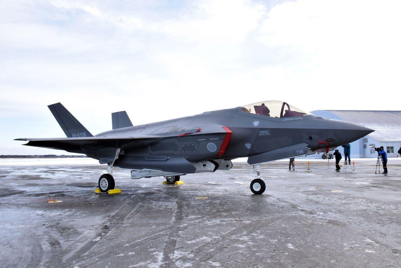 日本自衛隊F-35A戰機。歐新社