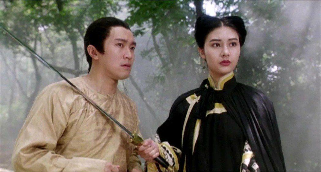 周星馳與李嘉欣在「鹿鼎記II神龍教」也有對手戲。圖/摘自imdb