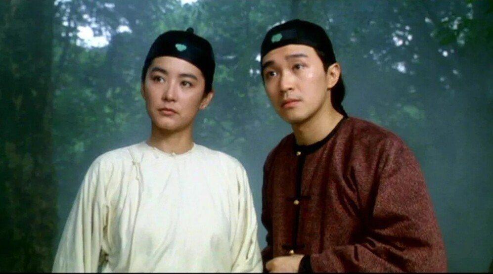 林青霞與周星馳在「鹿鼎記II神龍教」首度合作。圖/摘自imdb