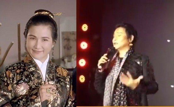 陳志朋(右)離奇撞臉鄭佩佩詮釋的華夫人一角。圖/摘自微博