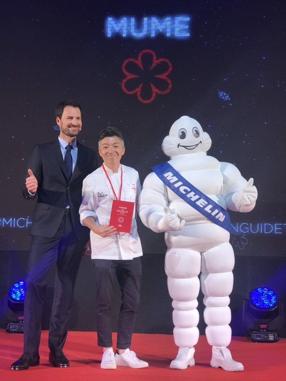 時尚歐式餐廳MUME在《台北米其林指南2019》再度摘下一星。記者陳立凱/攝影