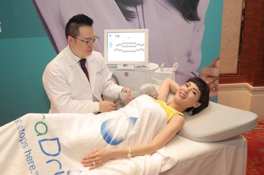 徐小可接受清新微波療程擺脫腋下困擾。圖/臻呈文化行銷提供