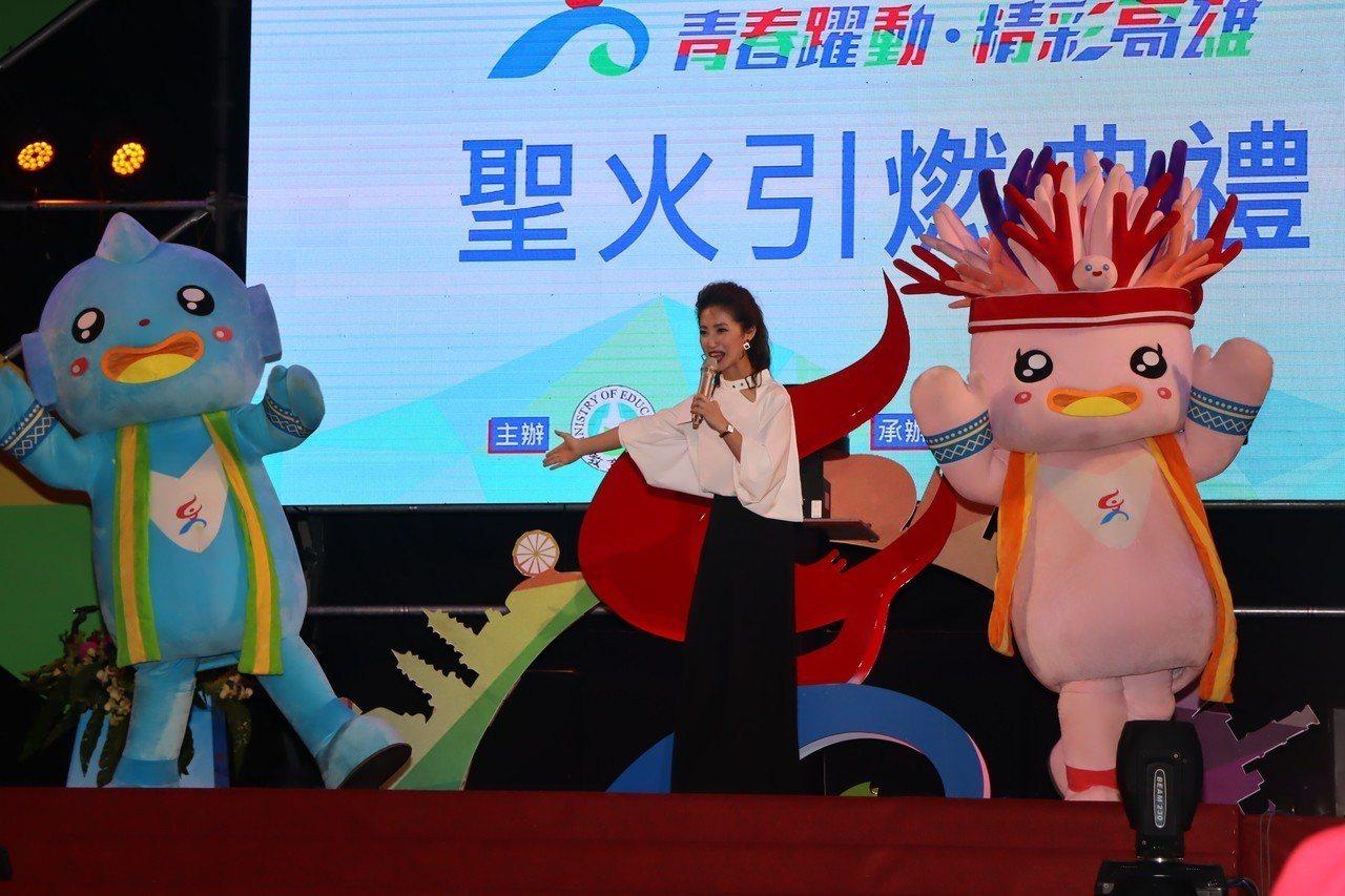108年全國中等學校運動會聖火將進行8天的聖火環台傳遞。記者徐如宜/攝影