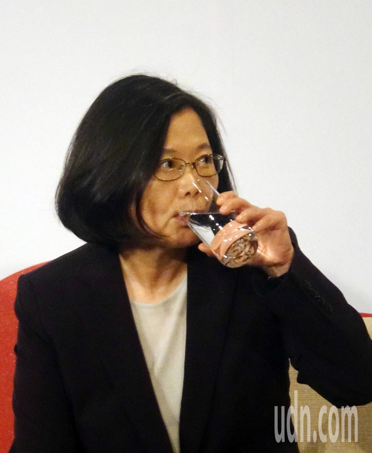蔡英文總統(圖)晚上出席台北市美國商會謝年飯晚宴。記者曾吉松/攝影