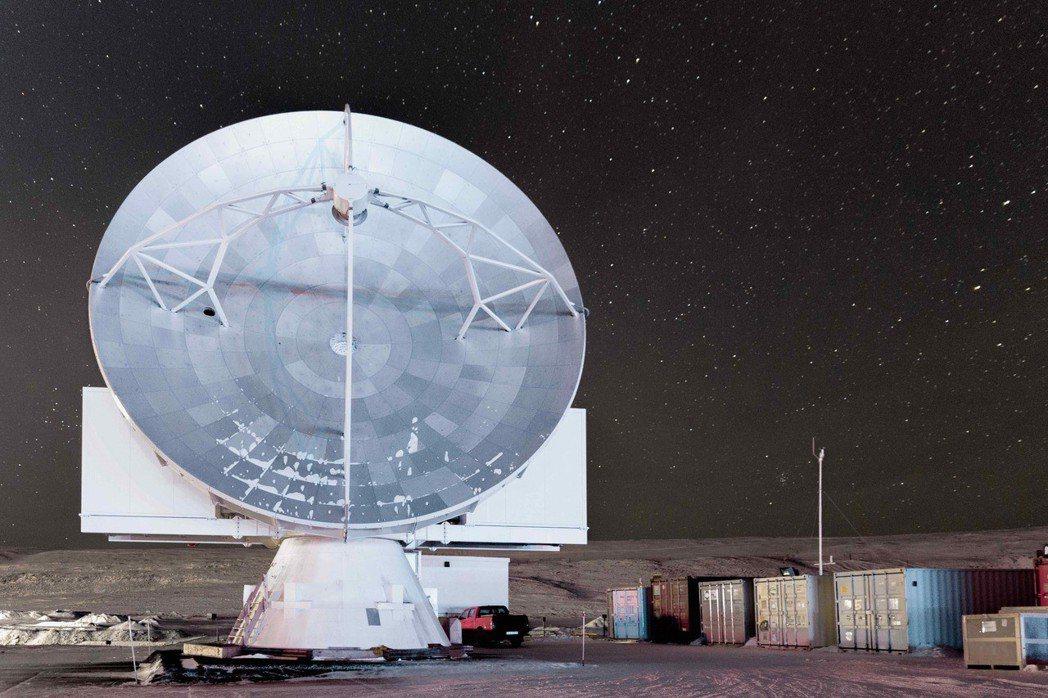 格陵蘭望遠鏡於格陵蘭空軍基地現況。 圖/中研院提供