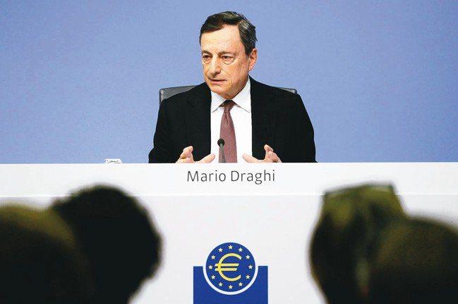 歐洲中央銀行總裁德拉基。 路透