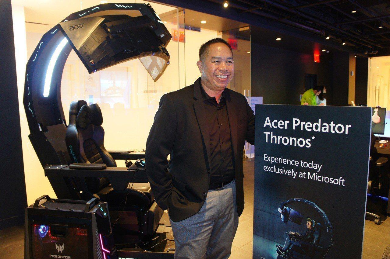 電腦品牌廠宏碁與微軟合作,旗下電競座艙即日起進駐紐約Microsoft Stor...