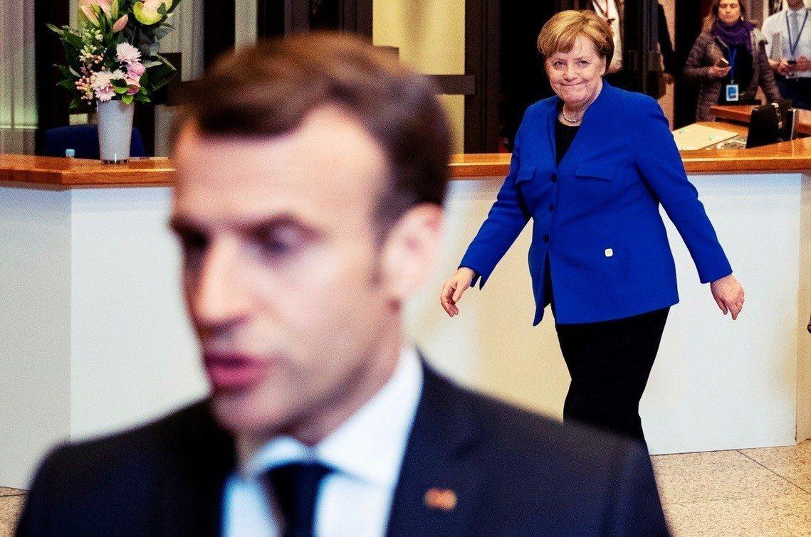 在二度延遲脫歐的討論中,法國急進與德國和緩的立場,彼此針鋒相對。 圖/法新社