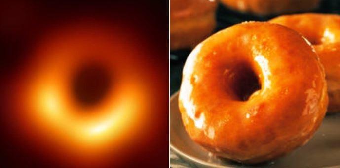 黑洞照激發全世界網友想像力,並對這張圖片進行了各種P圖和惡搞。圖/取自推特