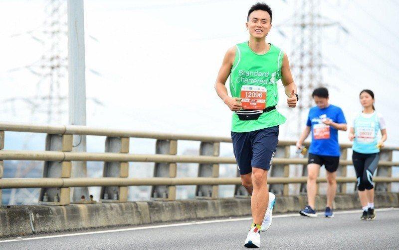 郭濟綱平日有路跑習慣,也參加馬拉松。 郭濟綱/提供