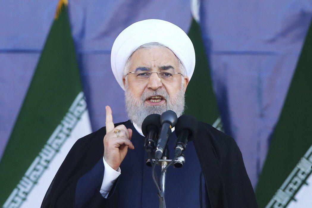 魯哈尼表示,伊朗的困境正是美國經濟制裁下的後果。 圖/美聯社