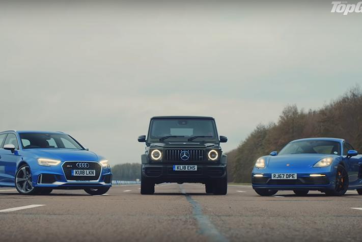 影/2.5噸的Mercedes-AMG G63跟Audi鋼炮還有Porsche尬直線?