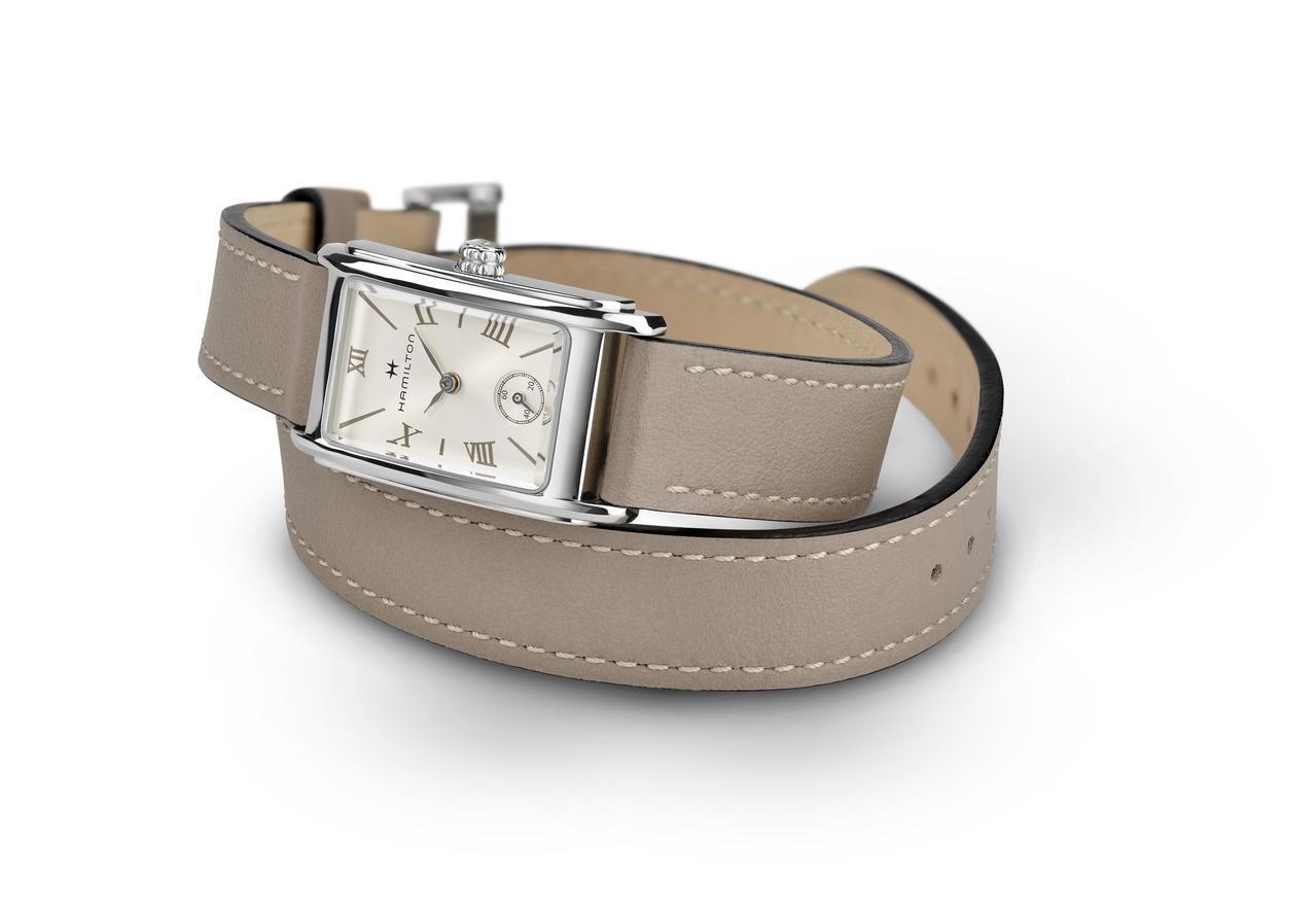 美國經典Ardmore系列腕表,不鏽鋼表殼,繞帶版約16,900元。圖/Hami...
