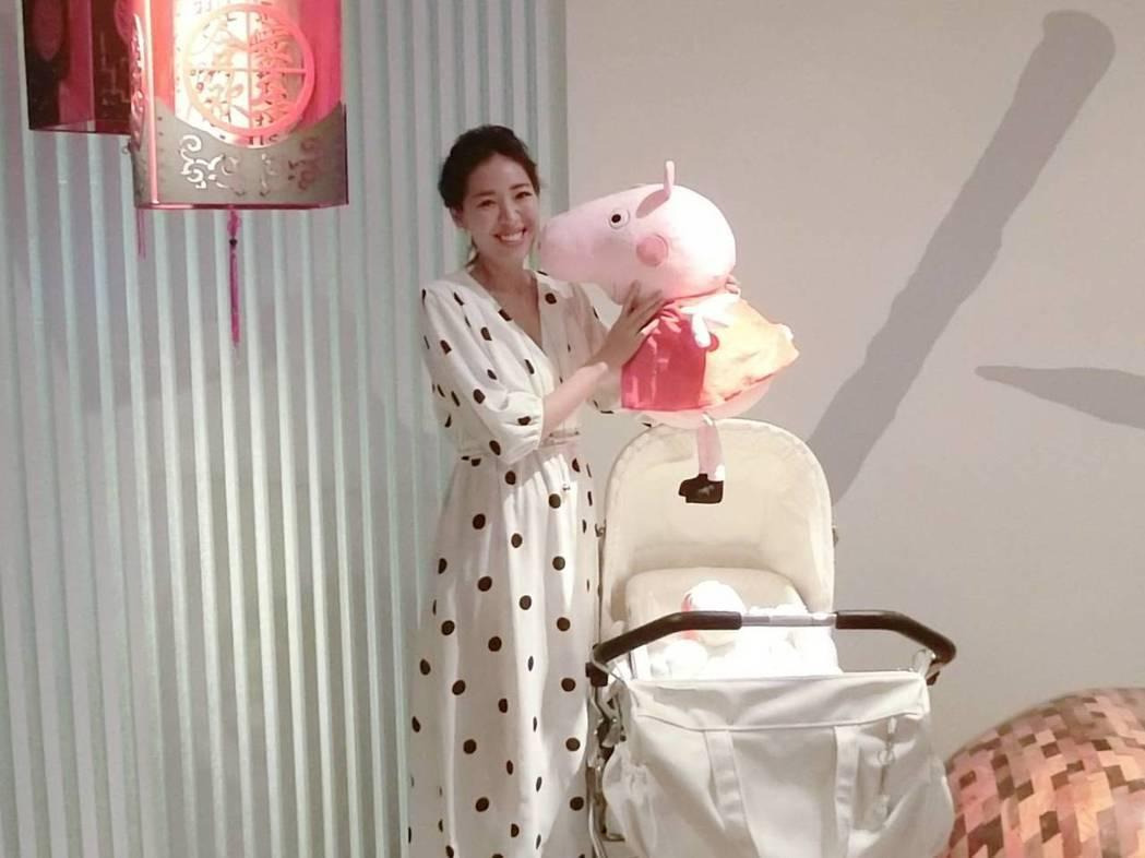 劉伊心公開懷孕5個月。圖/人之初產後護理之家提供