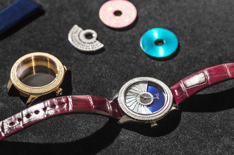 Grand Bal Couture表款,從表殼、表圈、底蓋、自動盤擺舵、表盤和指...