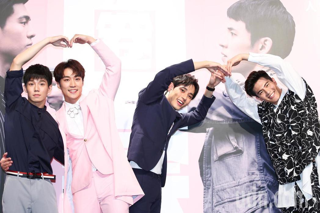 《HIStory3》新戲「圈套」舉行首映會,主要演員吳承洋(右起)、徐鈞浩、卞慶...