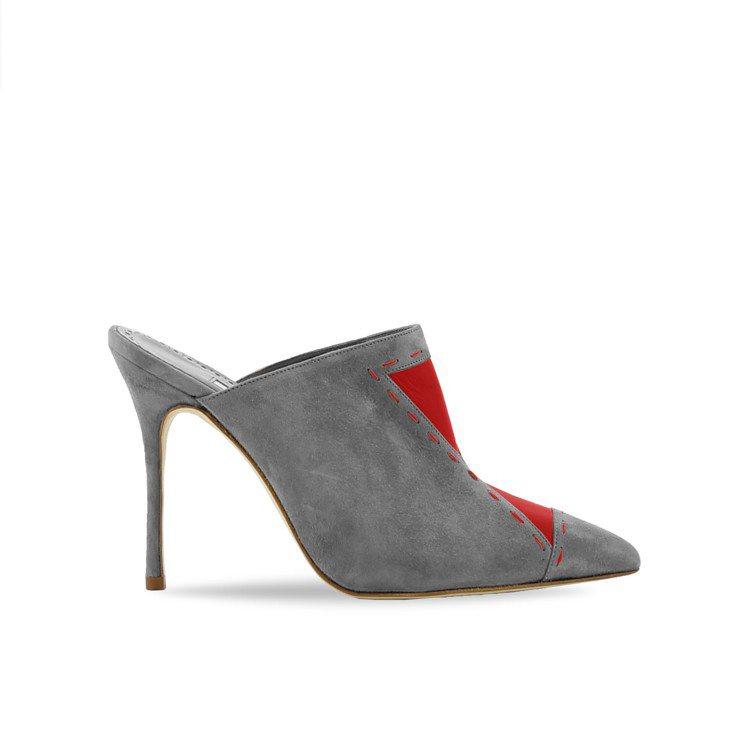 EPAFRODITO麂皮穆勒高跟鞋,34,800元。圖/Manolo Blahn...