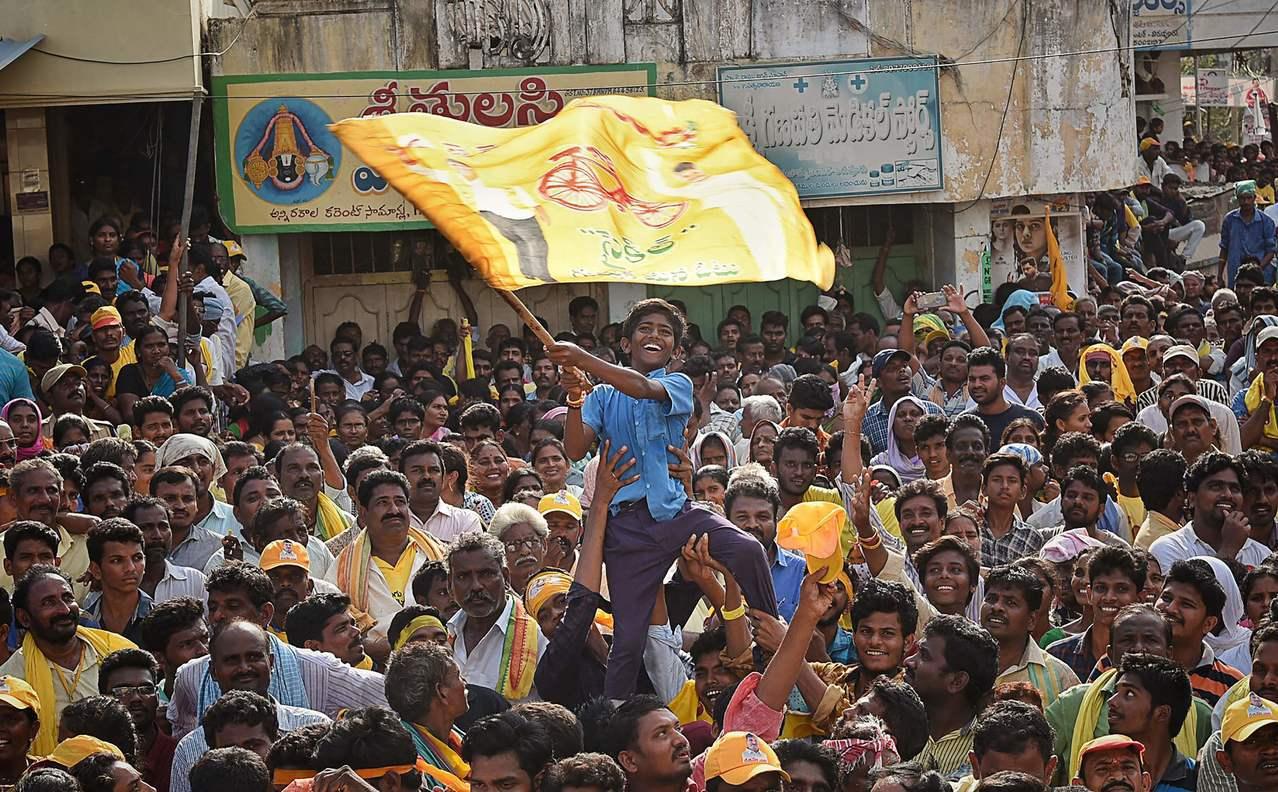 安得拉邦是印度TDP黨的大本營。法新社