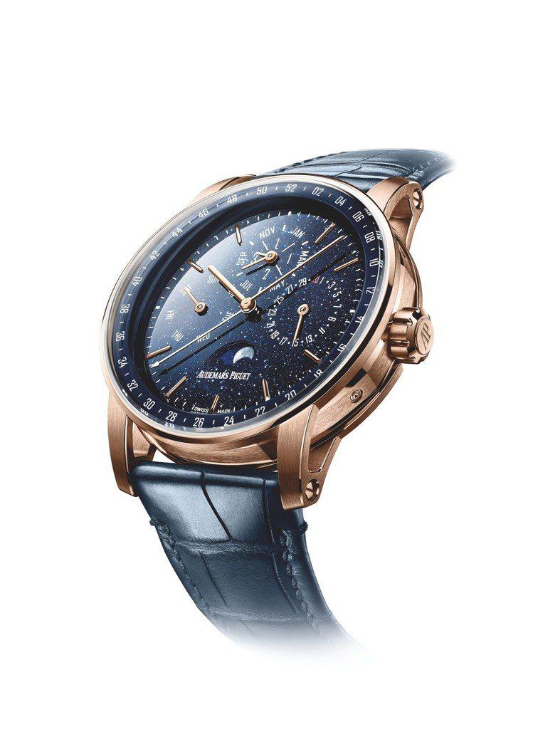 愛彼Code 11.59系列萬年曆腕表,41毫米玫瑰金表殼、5134自製自動上鍊...