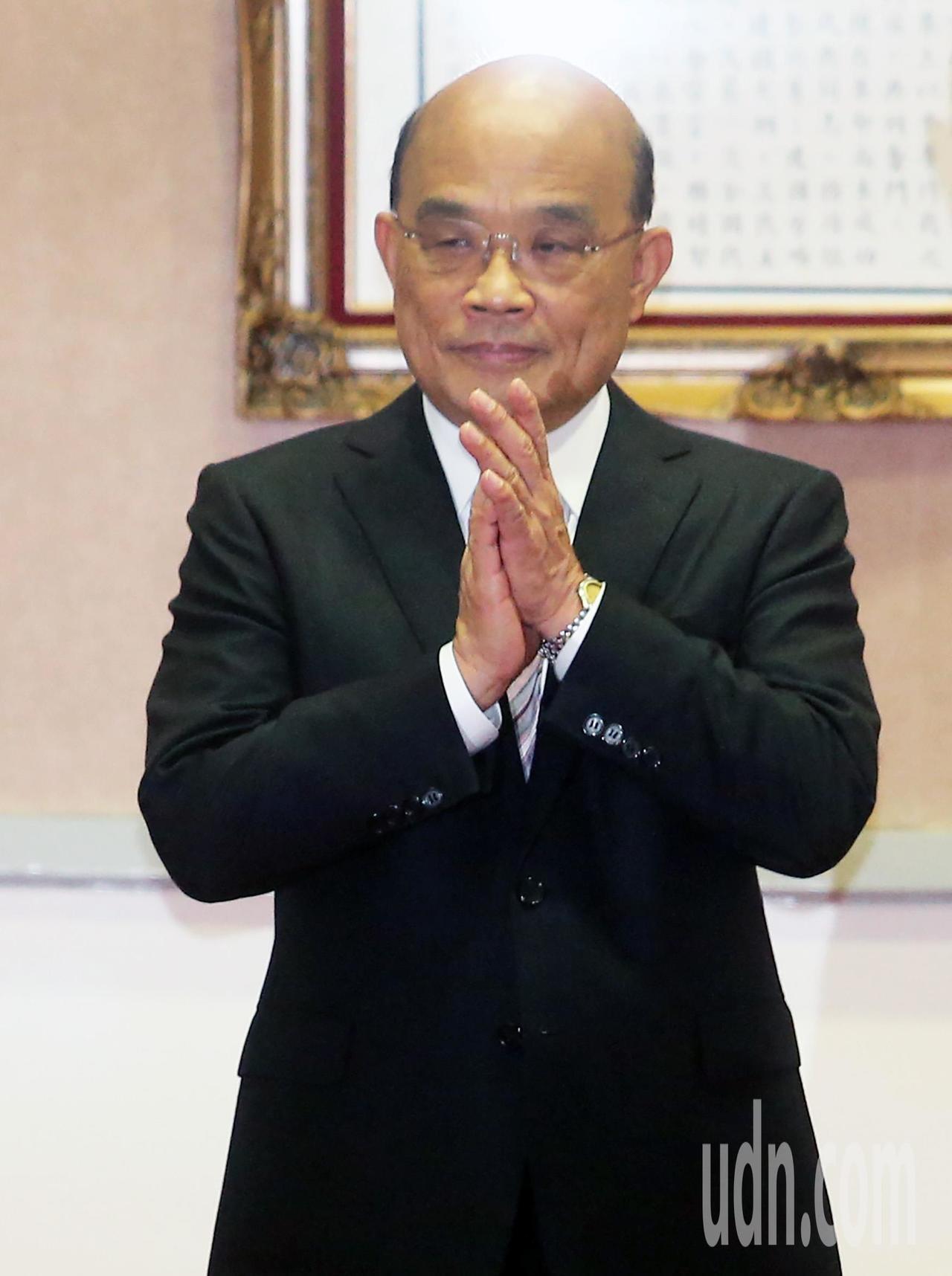 行政院長蘇貞昌。聯合報資料照
