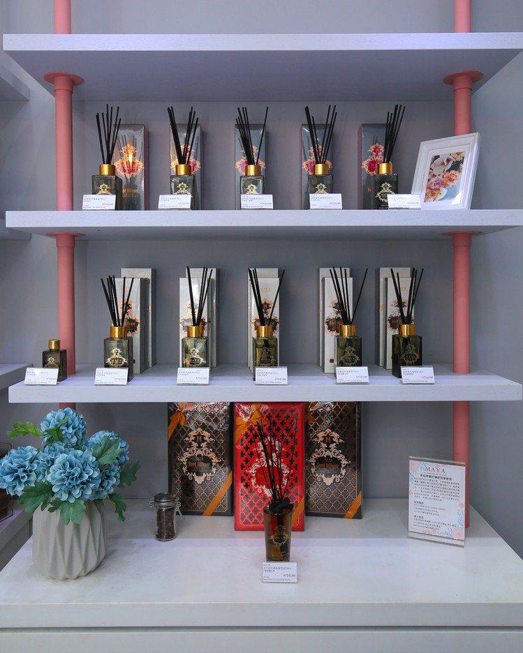 全新美妝選物店「Blossom繁花」引進泰國傳統哲學香氛品牌MAYA。圖/Blo...