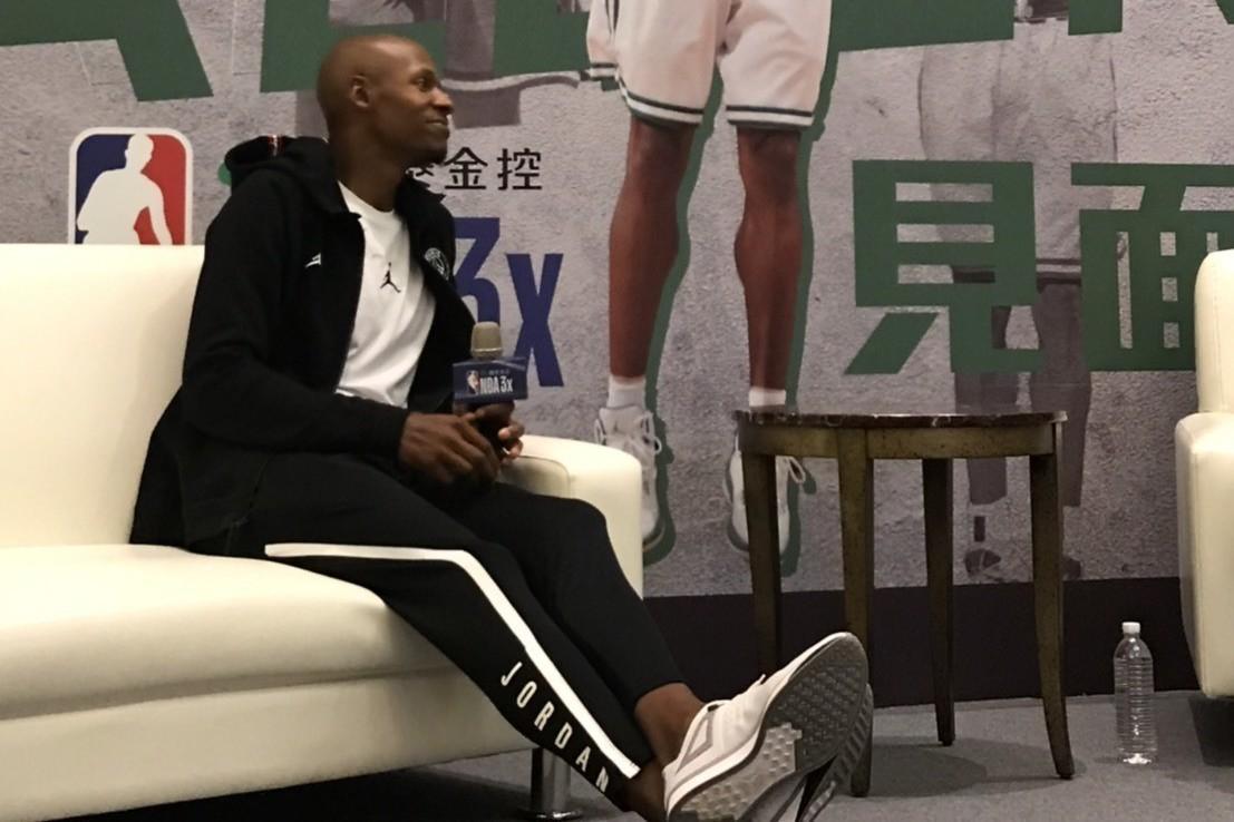 NBA著名球星艾倫日前來台造訪。 報系資料照