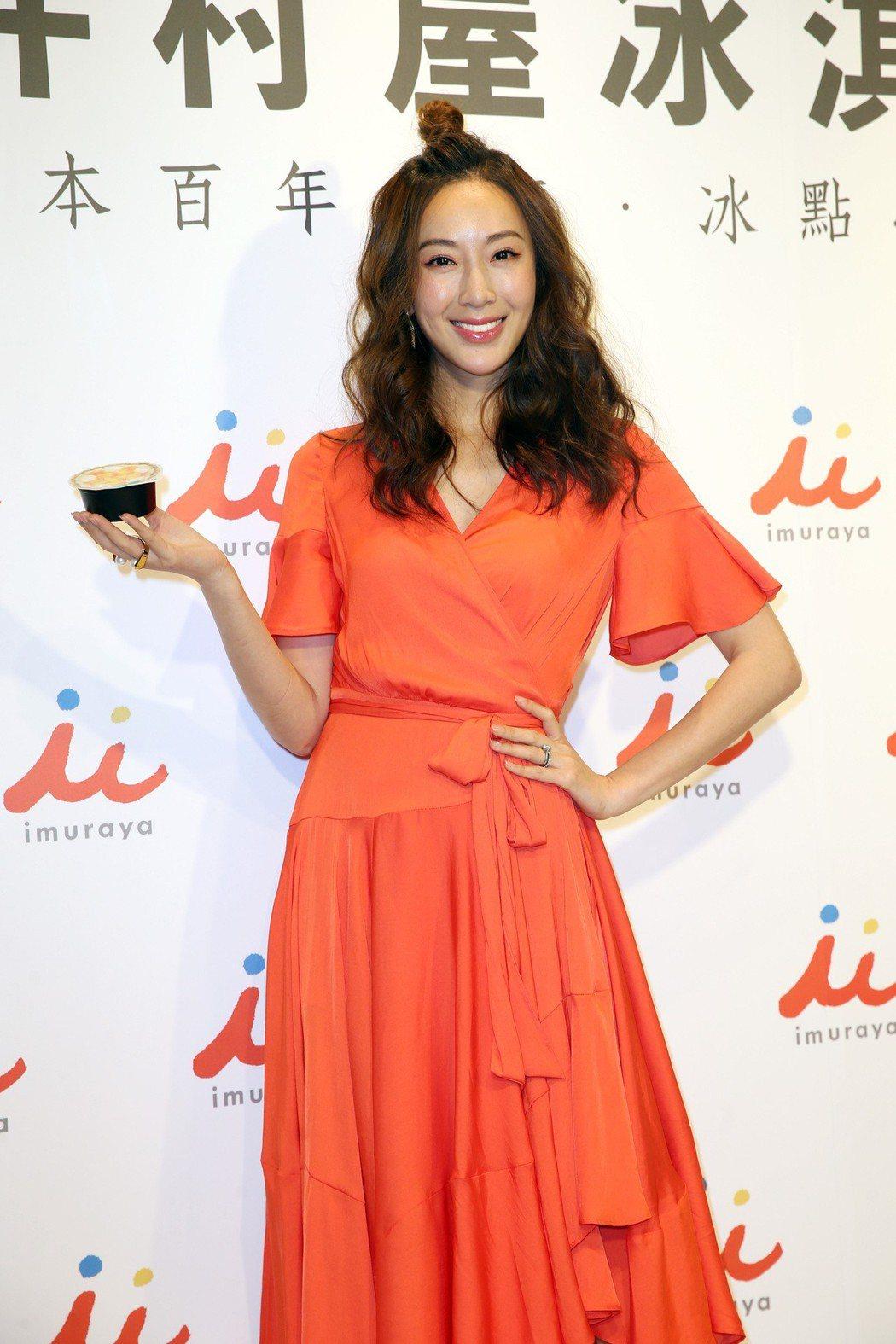 隋棠出席日本冰品來台上市活動 。記者曾吉松/攝影