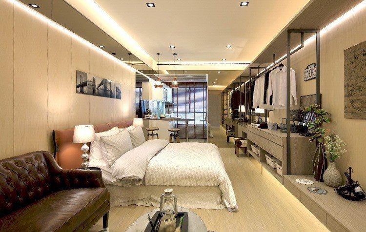 新潤興業A18的套房產品格局精緻,更祭出包租5年方案。 業者/提供