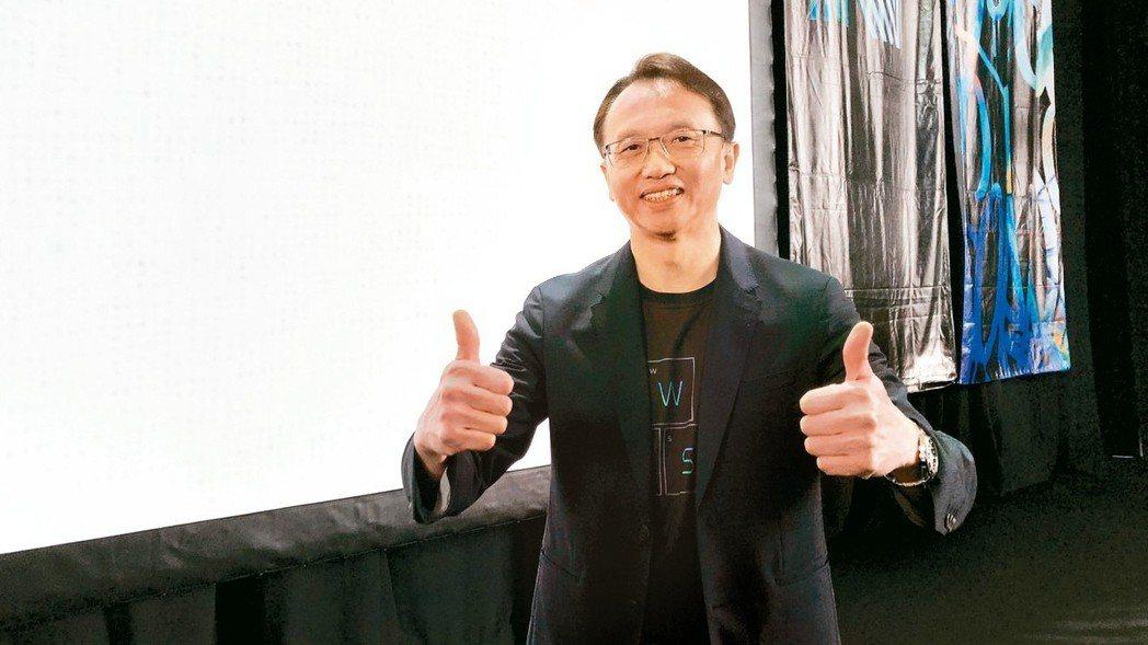 宏碁董事長陳俊聖認為,「ConceptD」創系列市場規模會比電競市場還大。 記者...