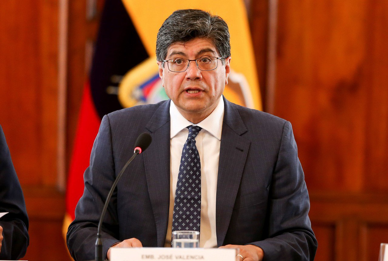 厄瓜多外長瓦倫西亞(Jose Valencia)。 歐新社