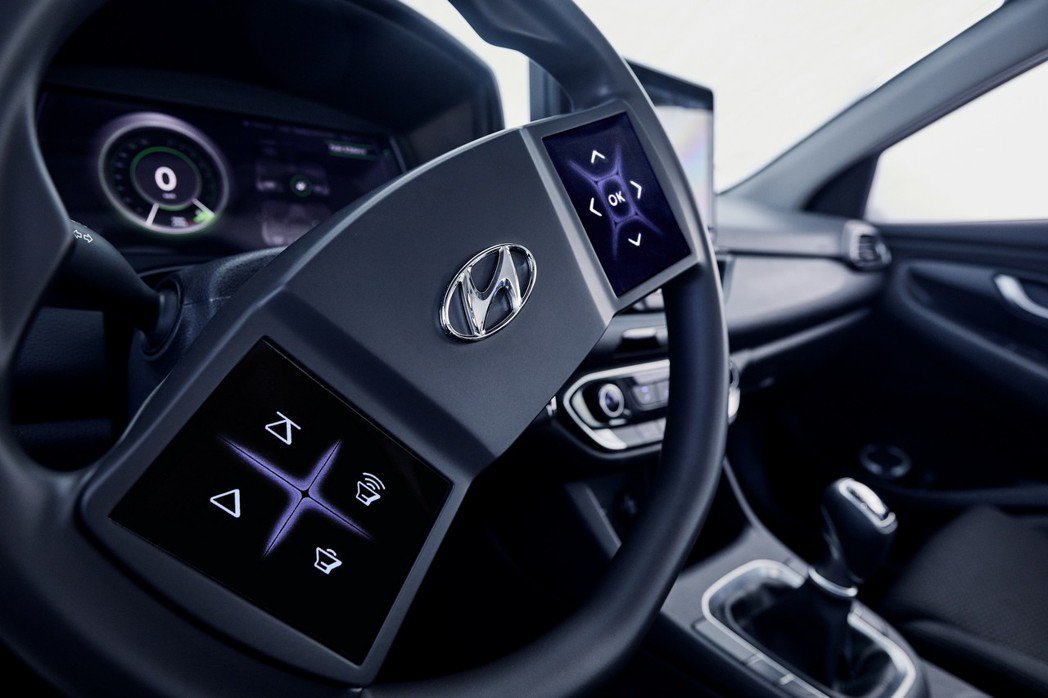 Hyundai全新觸控式方向盤。 摘自Hyundai