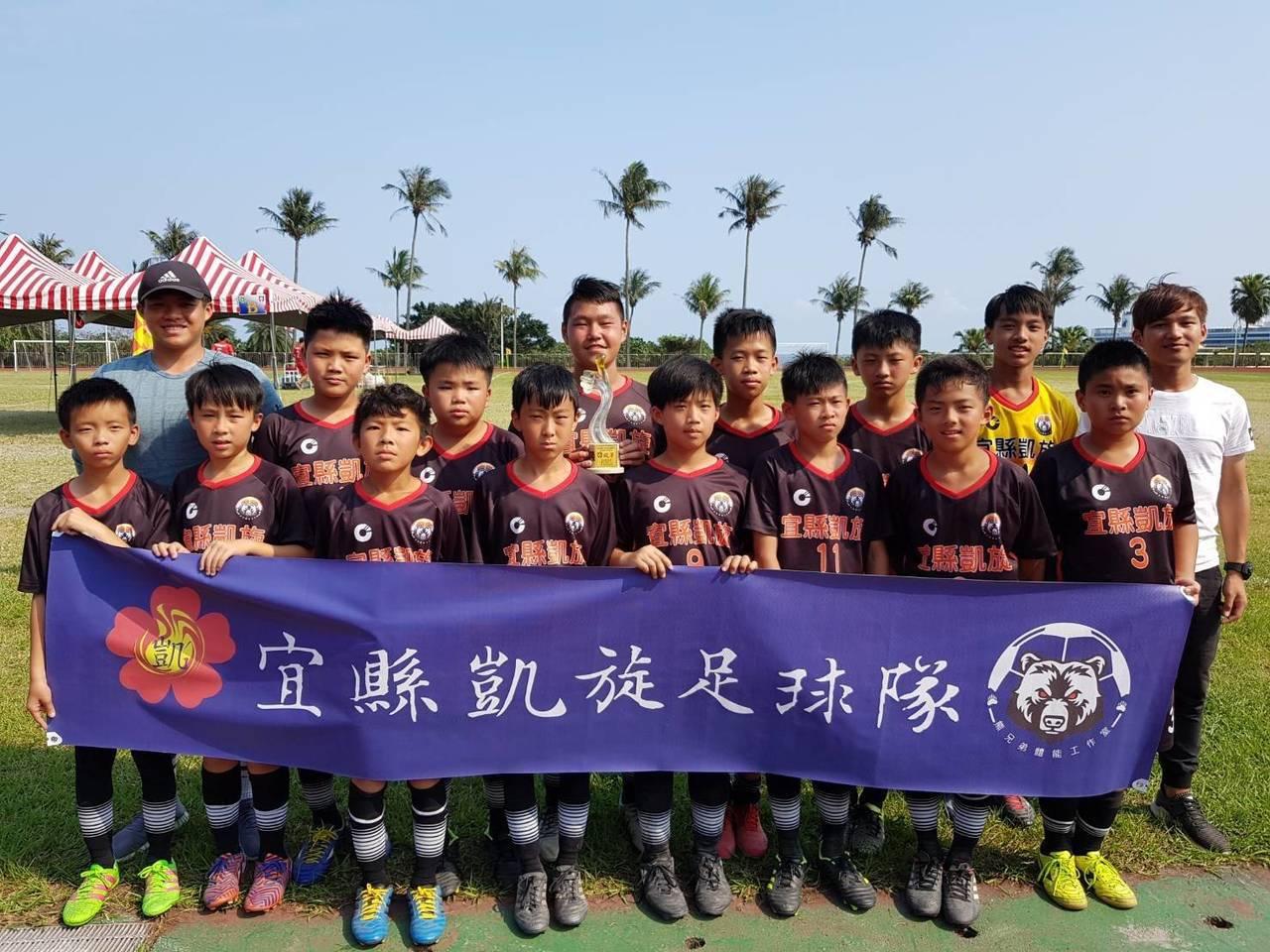 宜蘭縣凱旋國小創立足球校隊已是第17個年頭,今年在全國少年盃足球錦標賽中,拿下俱...