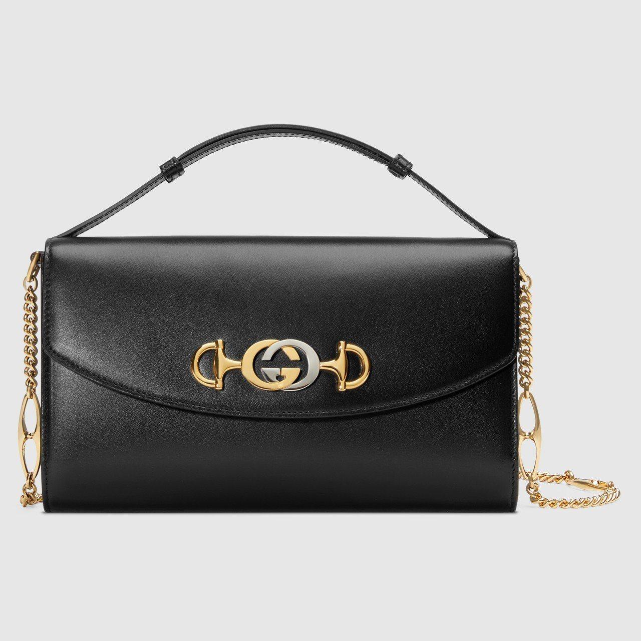 Gucci Zumi黑色鍊帶包,86,600元。圖/Gucci提供