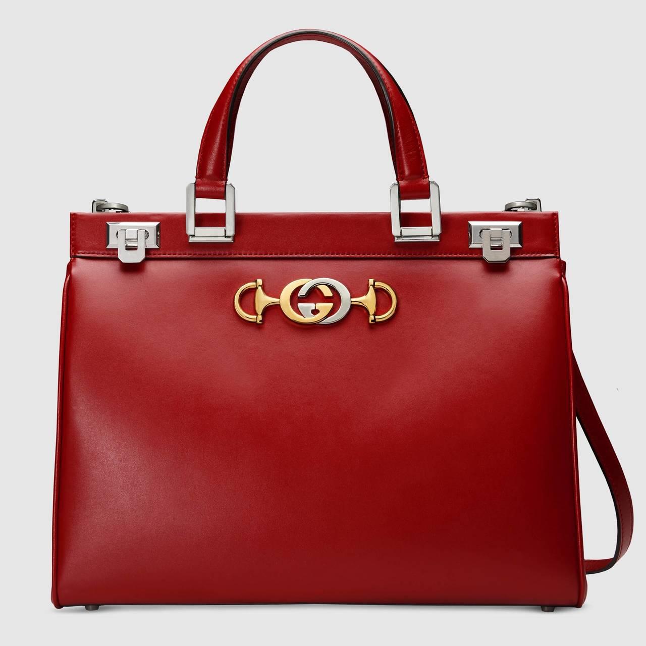 Gucci Zumi紅色提包,12萬6,200元。圖/Gucci提供