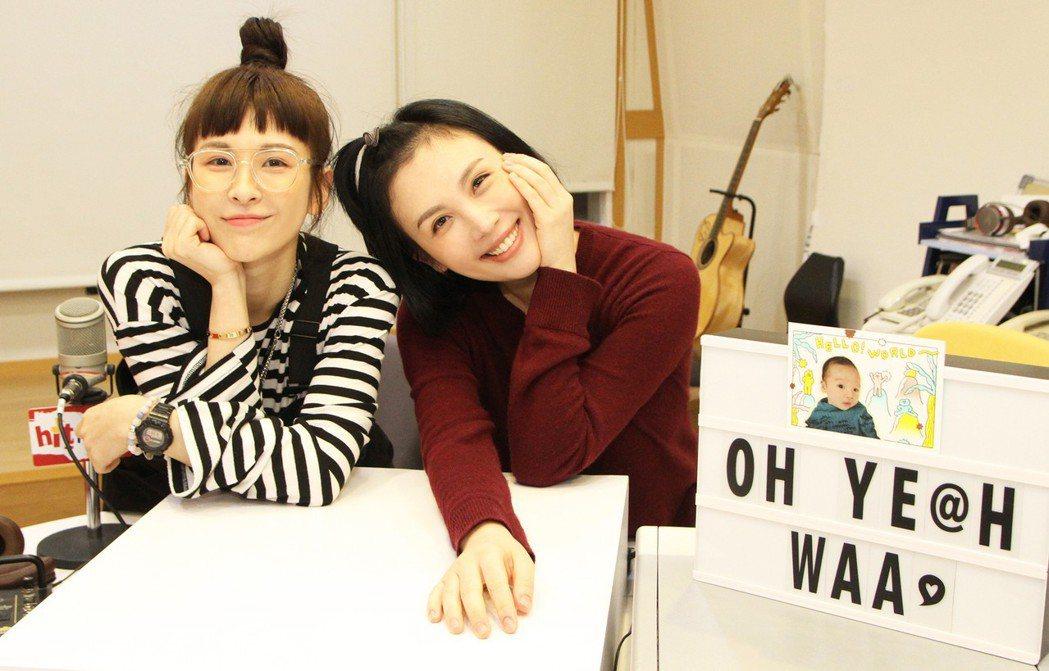 魏如萱(右)跟妹妹魏如昀姐妹情深,魏如萱主持期間,魏如昀當保母幫姐姐照顧Loui
