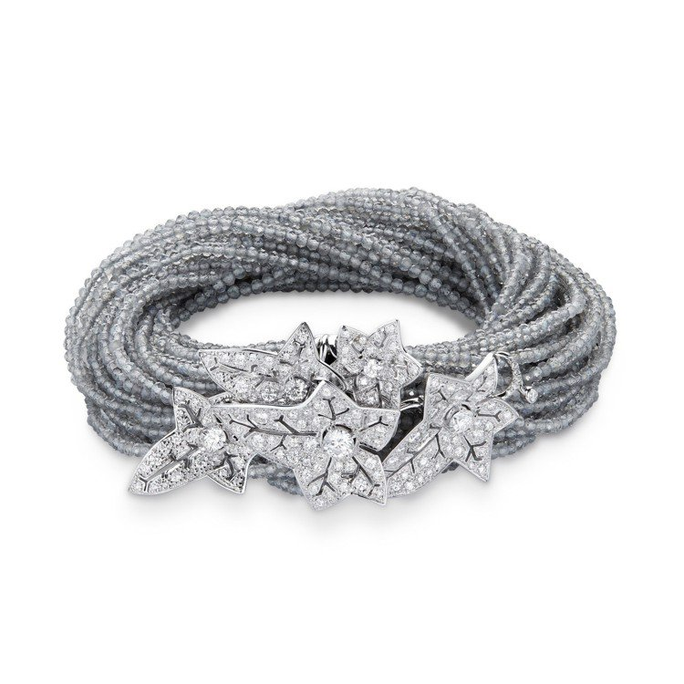 寶詩龍頂級珠寶系列Lierre de Paris常春藤手環,18K白金鑲嵌324...