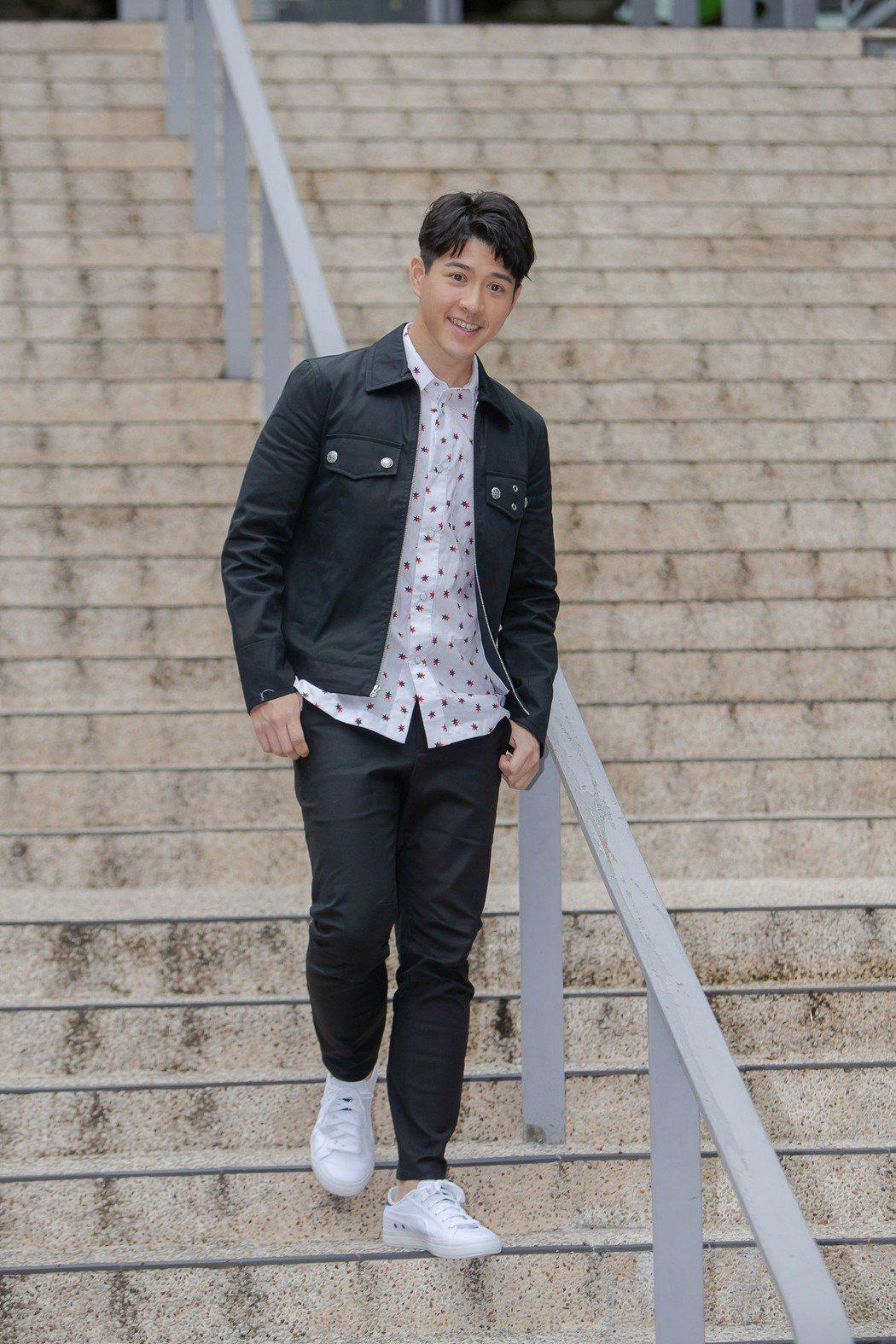 吳岳擎外型帥氣陽光,主演「如果愛.重來」卻一度很壓抑。圖/歐銻銻娛樂提供
